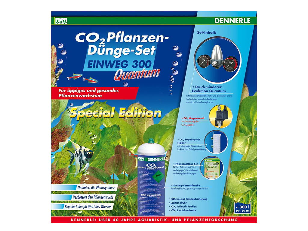 Set CO2 Dennerle 300 QUANTUM Disposable 500g Special Edition