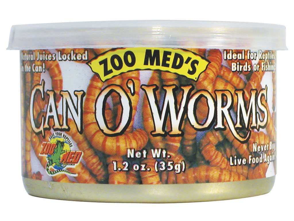 Hrana reptile conserva super worms Zoo Med Can O Worms 35g