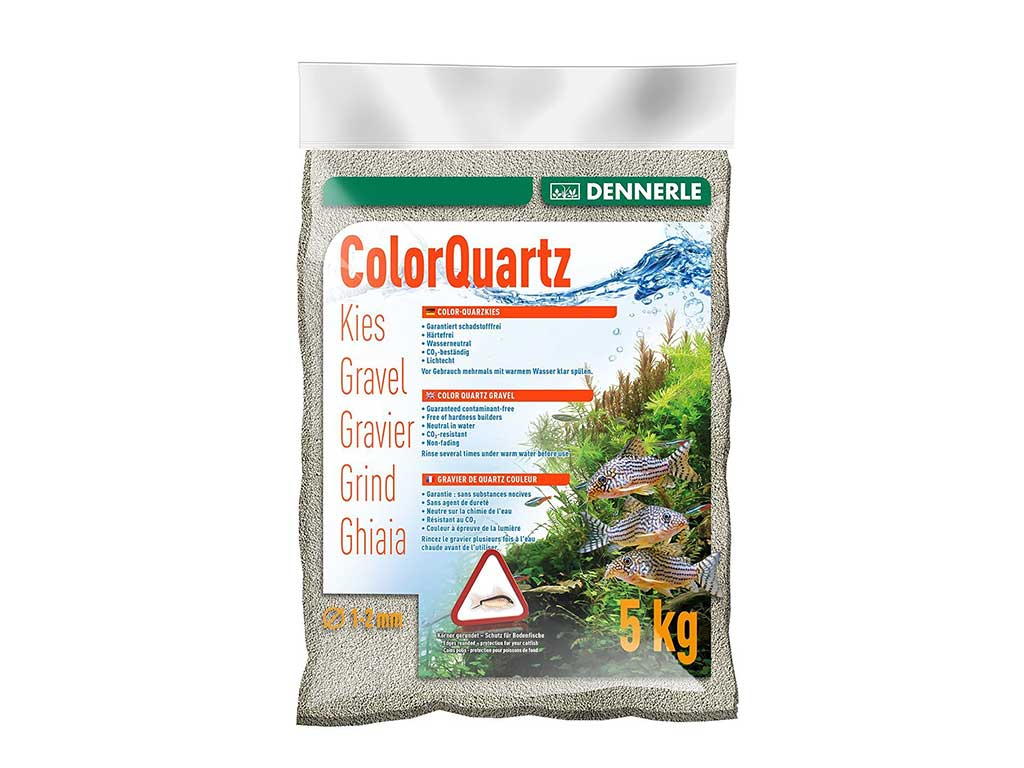 Nisip Dennerle color quartz light grey 5kg