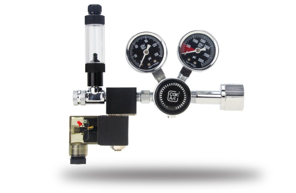 Reductor CO2Art Dual Stage CO2 electrovalava si numarator bule