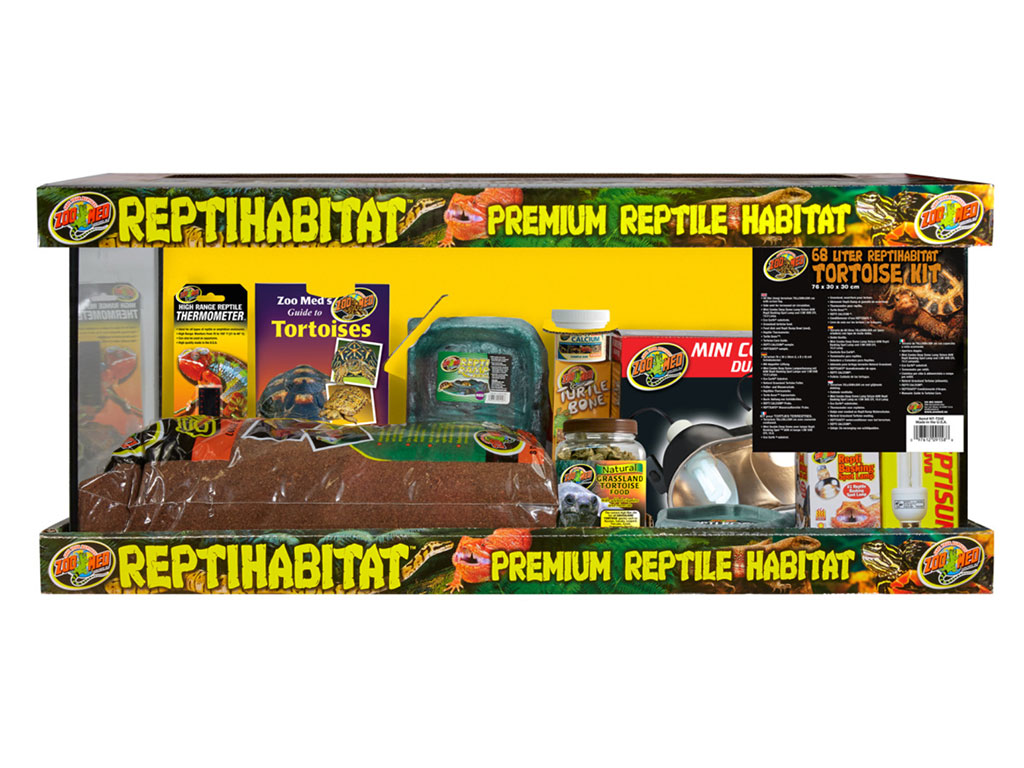 Kit Terariu pt testoase Zoo Med ReptiHabitat Tortoise Kit 75L