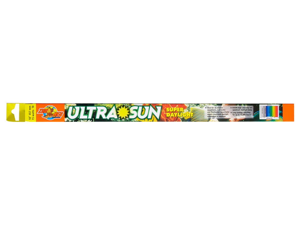 Neon T8 Zoo Med Ultra Sun Trichromatic Super Daylight 18 W