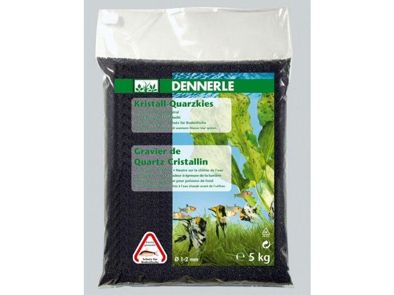 Nisip Dennerle Crystal Quartz Gravel Diamond Black - 5 kg