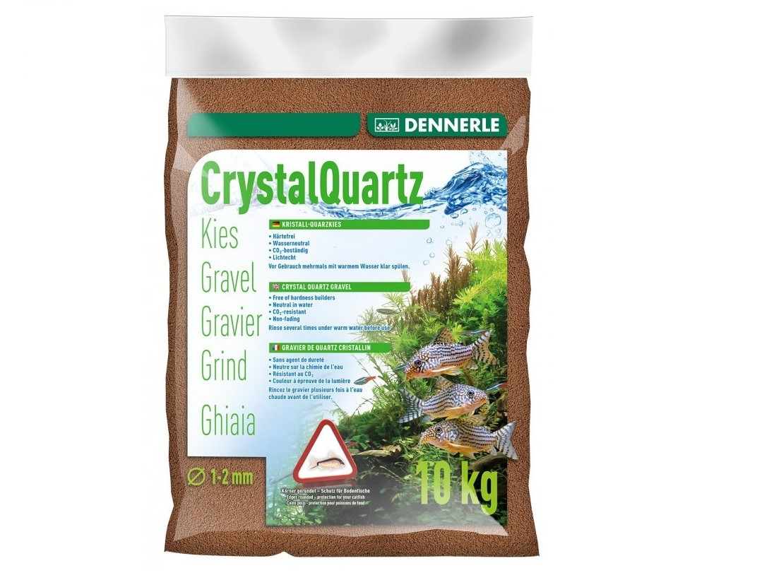 Nisip Dennerle Crystal Quartz Gravel light brown 5 kg