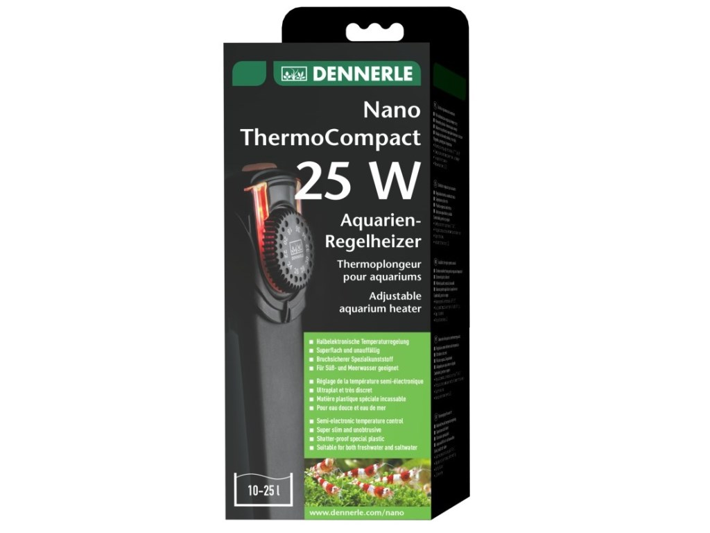 Incalzitor plastic Dennerle Nano ThermoCompact  25W pt 10-25l