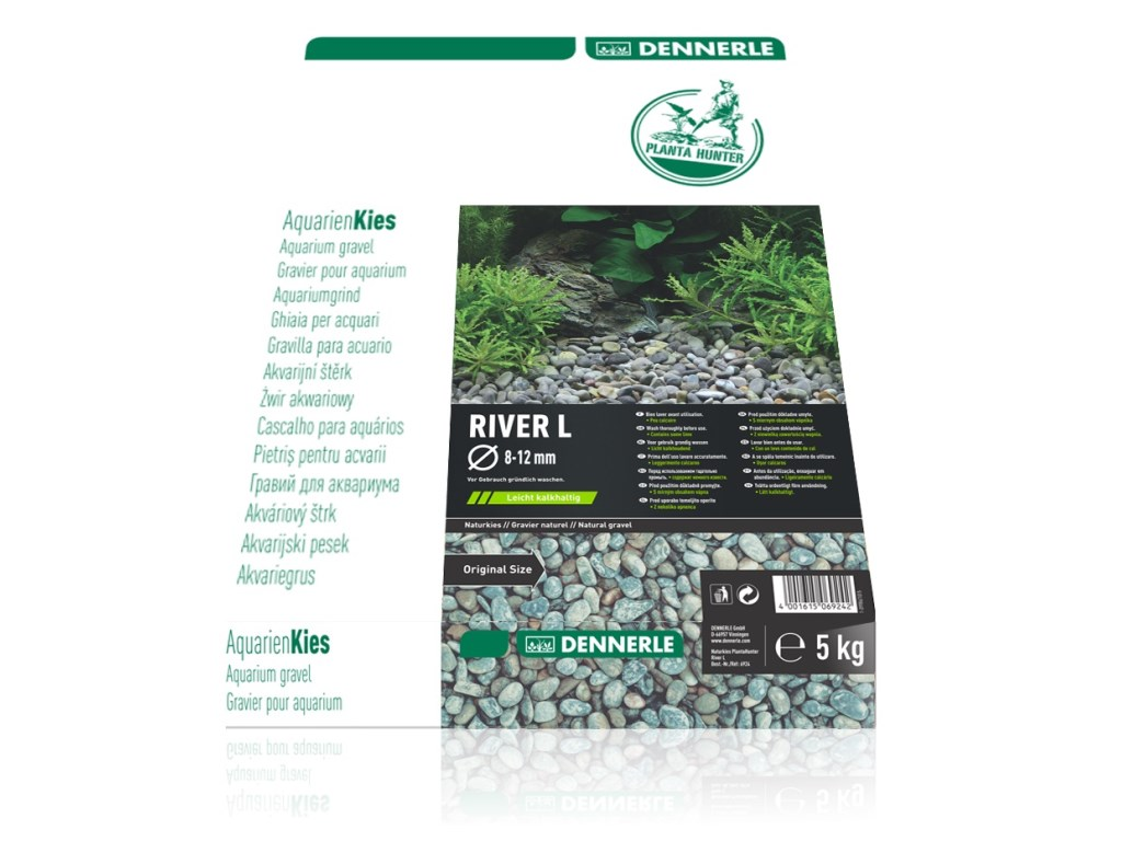 Nisip natural Dennerle Plantahunter River L 8-12mm 5kg